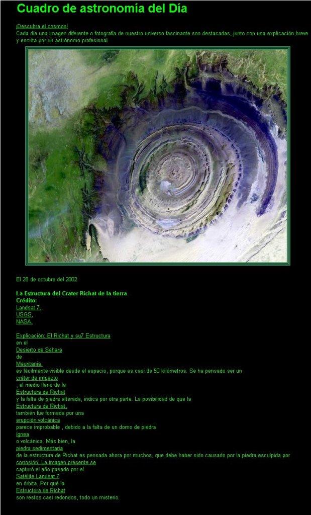 TIERRA-Crater Richat