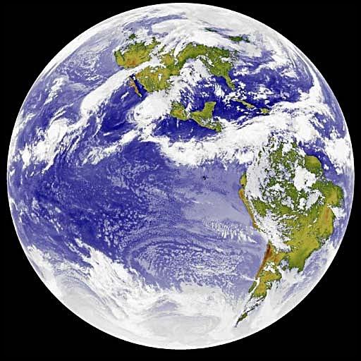 Vista Tierra Norte y Sur America