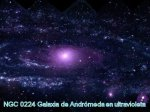 Galaxia Andromeda en ultravioleta