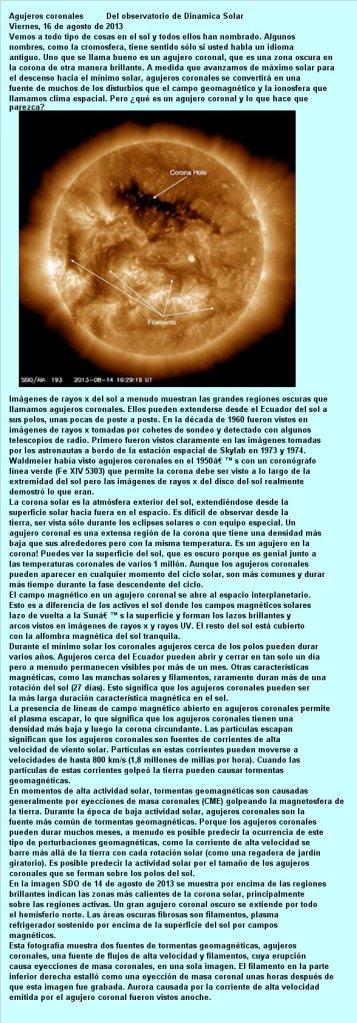 201308 16 AGUJEROS CORONALES SOLARES