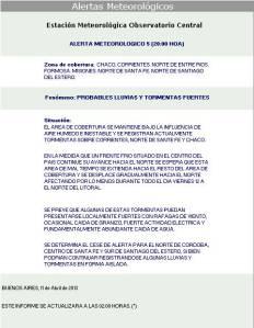 5A-ALERTAS METEOROLOGICOS  DEL EMOC