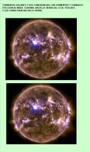 5B-Tormentas y explosiones  solares 08 AL 13-04-2013