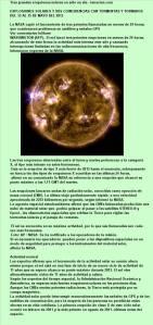 6A. Tormentas y explosiones  solares  13 AL 15-05-2013