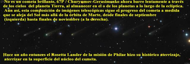 ROSETTA Y SALIDA DEL COMETA 67P -28112015