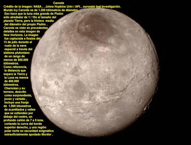 Luna Caronte de pluton