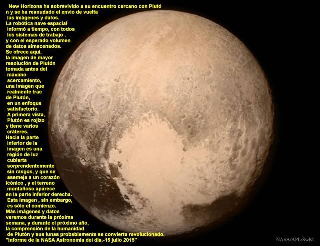 Pluto resuelto 15 o7 2015