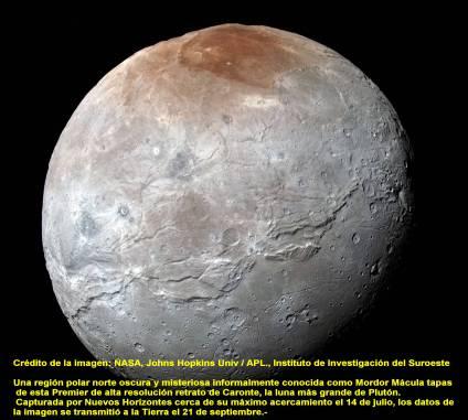 Charon-Luna de Pluton 1-10-2015