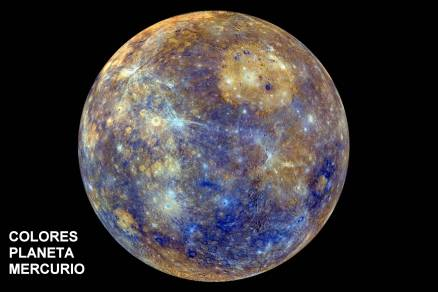 Colores del planeta mercurio