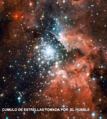 cUMULO DE ESTRELLAS POR EL hUBBLE