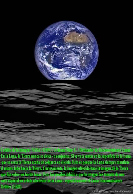 Desde el orbitador de reconocmiento lunar
