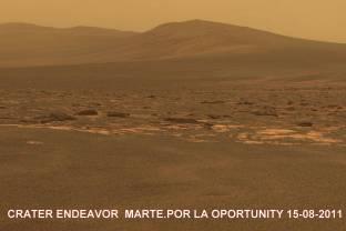 endeavorcrater_opportunity_Rover en Marte 15-8-2011