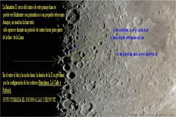 Foto tomada 3-3-2009 ilusión X en la luna