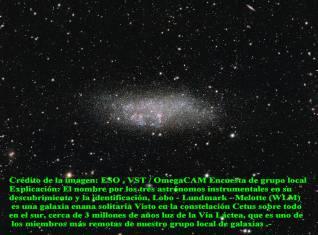 Galaxia Enana- Wolf-Lundmark Melotte