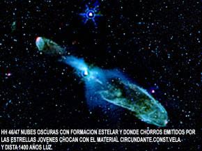 HH46-47 NUBES OSCURAS EN CONSTELACION VELA