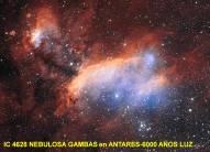IC4628 Nebulosa Gambas en ANtares-6000 Años Luz
