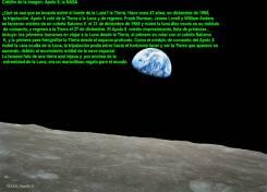 La Tierra desde la Luna por la Apolo 821-12-1968
