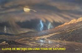 Lluvia de metano en Titan de saturno