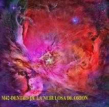 M42- dentro de la nebulosa de Orión
