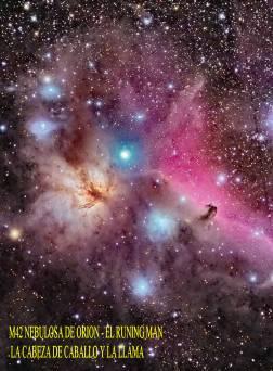 M42 NEBULOSA DE ORION Y EL RUNING MAN
