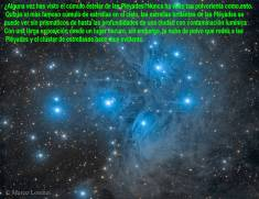 M45 CLUSTER DE ESTRELLAS DE LAS PLEYADES