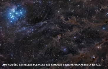 M45 CUMULO ESTRELLAS EN PLEYADES