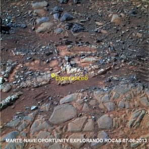 MARTE-Nave oportunity explorando rocas 07-06-2013