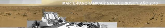 Marte-Panoramica nave curiosity año 2013