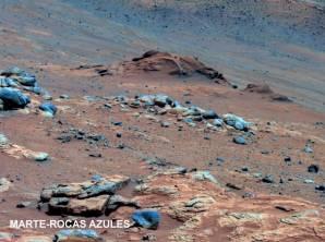 Marte rocas azules