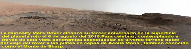 Marte y su superficie 6 agosto 2015.Po la Curiosity