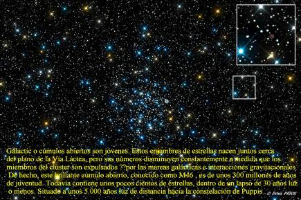 Messier46 Cumulo Abierto a 5000 años luz.