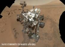 Nave Curiosity en Marte año 2012