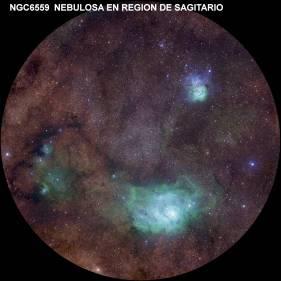 Nebula m8-m20 ngc6559