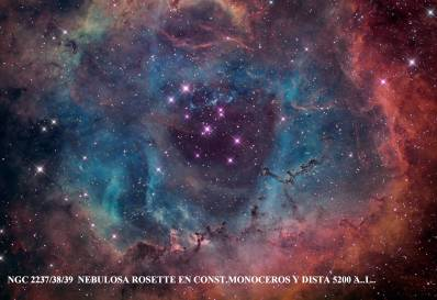 NGC 2237al 39 Nebulosa Rosette