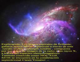 NGC 4258 Ó M106 AL OTRO LADO DEL ESPECTRO