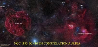 NGC1893 Ic 410 en Constelacion Auriga