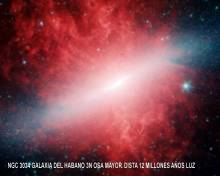 NGC3034 galaxia habano
