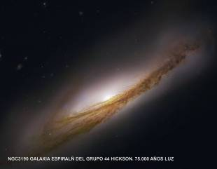 ngc3190_Galaxia Espiral del Grupo 44 Hickson 75000 años luz