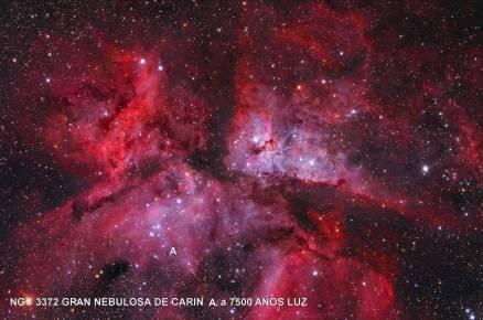 NGC3372 GRAN NEBULOSA DE CARINA A 7500 AÑOS LUZ