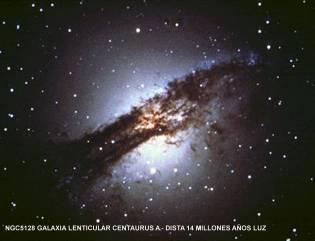 NGC5128 GALAXIA LENTICULAR CENTAURUS A