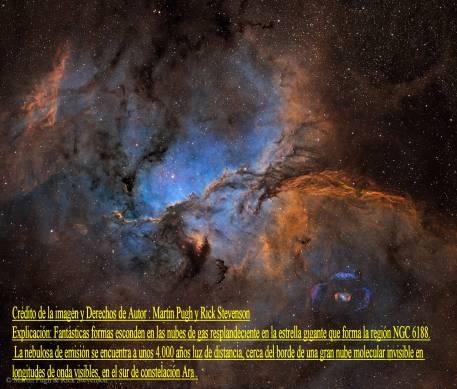 NGC6188 y NGC 6164 nebulosas