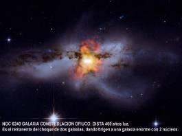 NGC6240 con Rayosx descubrimiento de fusion de agujeros neg