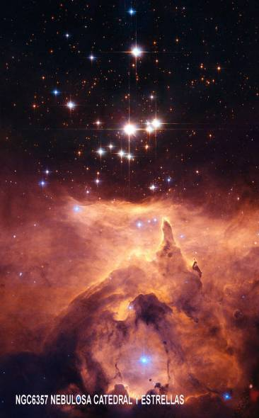 NGC6357 NEBULOSA CATEDRAL Y ESTRELLAS MASIVAS