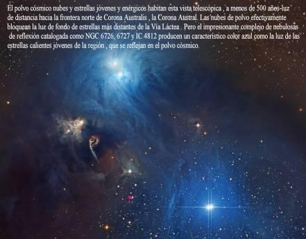 NGC6726-6727 IC 4812 Estrellas y Polvo en Corona Australis