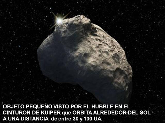 Objeto pequeño visto por el Huble Cinturon de Kuiper