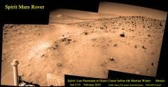 Panorámica de Marte por la nave Spíriti en año 2005