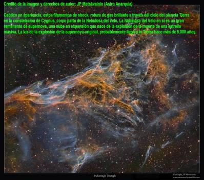 Parte de la nebulosa del velo en Cygnus
