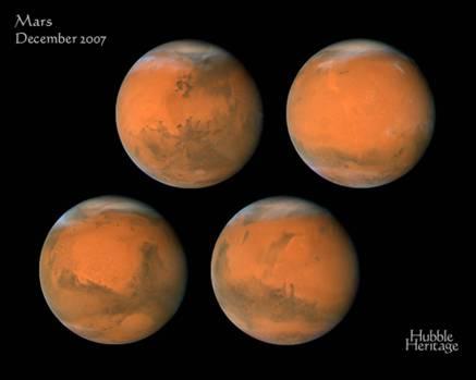 Planeta marte 4 CARAS DISTINTAS