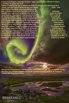 Aurora sobre fallos de Islandia