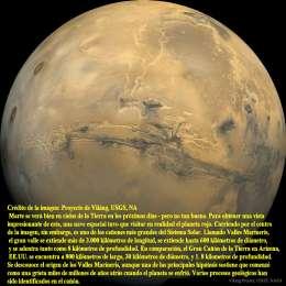 El Gran cañon de Marte- Valles Marineris