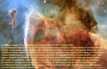 El ojo de la cerradura en la nebulosa de Carina